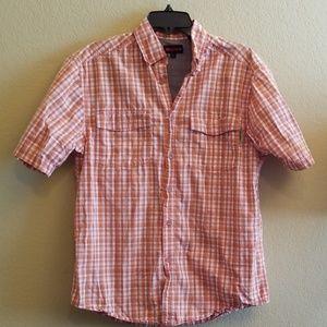 Wolverine Orange Button Up Work Shirt